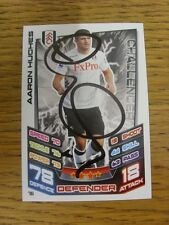 2012/2013 Autograph: Fulham - Hughes, Aaron [Hand Signed 'Topps Match Attax' Tra