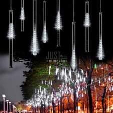Weiß 240LED 50CM 8 Rohre Meteor Dusche Regen Lichterkette Weihnachten Lichter