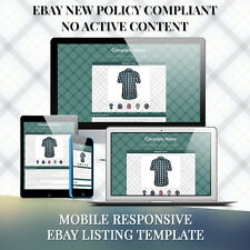 Mobile Responsive eBay Auction Listing Template HTML for Mens Wears