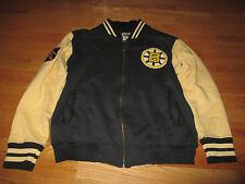 Red Jacket BOSTON BRUINS Zippered (MED) Jacket w/ NHL and BRUINS Logo Patches