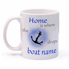 Personalised Boat Mug. Gift for boater or sailor Narrow Boat, Boat, Yacht.