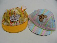 LOT OF TWO - INFANT/BABY SIZE - RABBIT & MOUSE - ONE SIZE CAP HATS!