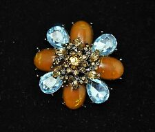 Vintage flower Style Brooches black Nickel/ multii color high-quality Bouquet