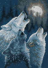 Cross Stitch Kit ~ Dimensions Winter Wolf Trio Howling In Harmony #35203