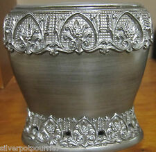New Zenna Home India Ink Alexa Toothbrush Holder Brushed Silver