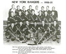 NEW YORK RANGERS 1950-51 TEAM NY 8X10 PHOTO HOCKEY NHL PICTURE