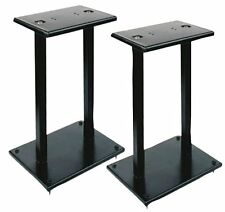 NEW Pyle PSTND18 Heavy-Duty Steel Quad Support Bookshelf Monitor Speaker Stands