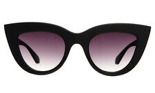 "NEW QUAY Matte Black ""KITTI"" Cat Eye Sunglasses -SALE"