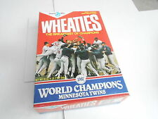 VINTAGE WHEATIES CEREAL BOX - 1987 WORLD SERIES - MINNESOTA TWINS