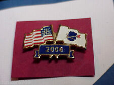 PINBACK LAPEL PIN FLAGS 2006 USA WITH NATIONAL LAW ENFOREMENT OFFICERS MEMORIAL