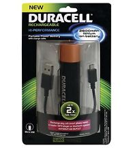 Duracell Rechargeable Portable Battery 2600mAh PRO515 *NEW Lithium Ion Micro USB