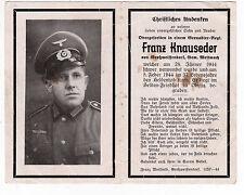 wk2 ww2 Sterbebild Death card +1944 Odessa Одесса Ukraine / Höhnhart Mettmach
