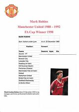 MARK ROBINS MANCHESTER UNITED 1988-1992 ORIGINAL HAND SIGNED MAGAZINE CUTTING