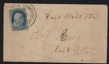1851-57 Issue 1c Franklin (Scott 9) tied by West Townsend, MA CDS on cover to NH