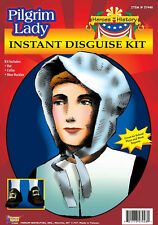 Pilgrim Lady Kit Plymouth Thanksgiving Fancy Dress Halloween Costume Accessory
