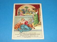 Cook Publishing Christianity Bible Lesson Card - Rich Man & Lazarus 1900 #45 V22