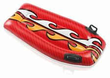 Inflatable Red Flame Joy Rider Boogie Surf Board Pool Beach Toy TY5456