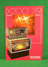 Original Wurlitzer X9 Electronic X200 Electronic Jukebox Brochure