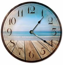 "RUSTIC SEA Clock - Large 10.5"" Wall Clock - 2032"