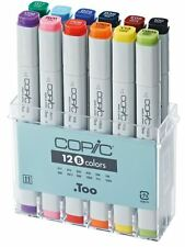 COPIC MARKER PENS - 12 BASIC COLOUR SET - GRAPHIC ART MARKERS