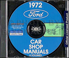 1972 Lincoln Repair Shop Manual CD Town Car Continental and Mark IV 4 Service 72