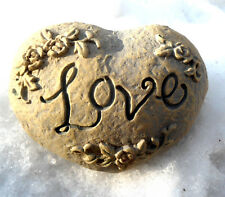 "Latex heart love rock mold Make  Mothers Day gifts 3.5"" x 2.5"""
