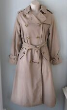 Authentic Vintage Burberry Tan Trench Coat Wool Button Lining XS S Bloomingdales