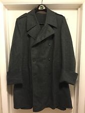 Vintage Military Red Cross Wool Overcoat Coat Size 46 w/ button out wool lining