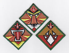 SCOUTS OF SINGAPORE - SCOUT STANDARD & ADVANCED STANDARD Rank Award Patch OF 3
