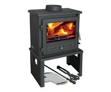 Firefox 8 Europa Multifuel Woodburning  Stove Complete With Log Store