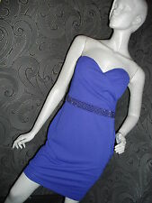 STUNNING NEW * MORGAN * PURPLE STRAPLESS FULLY LINED DRESS SIZE 10 RRP £55