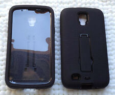 Samsung Galaxy S4 ACTIVE i9295 SGH-I537 Phone Case sBLK/BLK with BUILT IN SCREEN