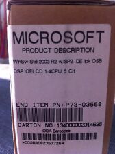 Windows Server 2003 standard r2 con sp2, de 32bit incl. 5 CALS con fattura IVA