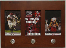 Alabama football 2012 & 15 National Championship 3 in1 framed picture Saban Lacy