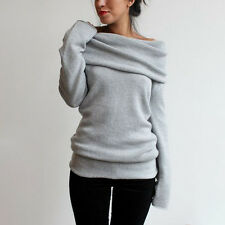 Women's Long Sleeve Knitted Sweater Jumper Knitwear Casual Cardigan Coat Outwear