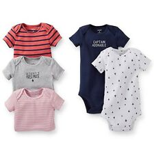 NWT - IRREGULAR - Carter's Baby Boys' 5 Pack Bodysuits  - Navy - Newborn  …