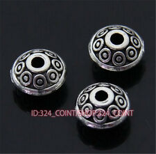 P400 50pc Tibetan Silver Charm Flowers String Spacer Beads accessories wholesale
