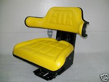 Tractor Seat  Yellow Waffle  Farm Tractors  Universal Fit  Spring Suspension #AO