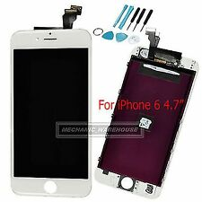 White Retina LCD Display Touch Screen Digitizer Lens Assembly for iPhone 6 4.7""