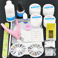 BF NAIL ART KIT Acrilico Liquido Polvere Gel Primer Pen Brush file buffer forme 140