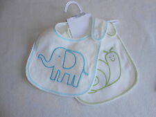 Baby Unisex Bib Bundle - 2 Cute Carters Bibs - New