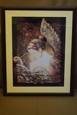 Framed Print of Angel w/Harp By Alexandru Darida Ca. 2003 w/Personal Inscription