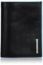 Piquadro Mans Wallet In Leather, Black 1394B2, One Size
