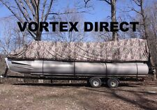 NEW CAMO VORTEX 17 - 18  FT ULTRA 5 YEAR CANVAS COVER FOR PONTOON/DECK BOAT