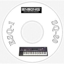 Ensoniq ESQ1 SQ80 Sound, Patch Library, Editors & MIDI Software CD - ESQ 1 SQ 80