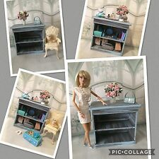 BARBIE,adult collector,diorama,scale 1/4,1/6 dresser,stand,armoire ,shabby stand