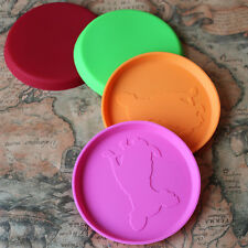 Dog Frisbee Flying Disc Tooth Resistant Random Color Dog Training Fetch Toy Gift