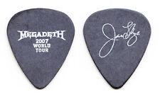 Megadeth James LoMenzo Signature Black Guitar Pick - 2007 Tour