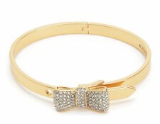 NEW Juicy Couture Bracelet Pave Bow Bangle Gold