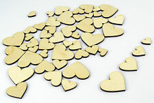50x Mixed Wood Craft Shapes/ Hearts / DIY Project / Beads / Supplies